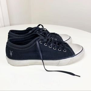 All Saints Rigg Low Top Canvas Sneakers Size 9